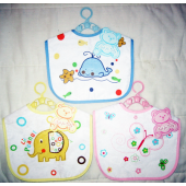 "BABYBIB00 - 11"" Cloth Baby Bibs (12pcs @ $1.25/pc)"