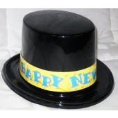 HATNEWYEAR - Black Happy New Year Top Hats (each @ $1.10/pc)