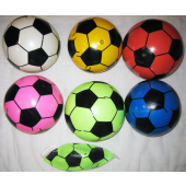 "KNOBBYSOC2 - 12"" Colorful Inflatable Soccer Balls (12pcs @ $1.25/pc)"