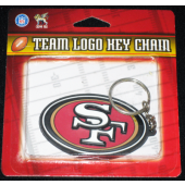 SF49ERS - NFL San Fransisco 49ers Rubber Logo Keychains (12pcs @ $1.00/pc)