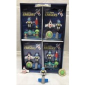 "CZSPACE - 4pc Space Themed Buildable Erasers on 6"" Card (12pcs @ $1.00/pc)"