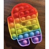 """POPIT1 - New 6"""" Rainbow Colored POP IT Toys (12pcs @ $2.25/pc)"""