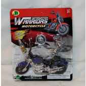 """BR384 - 4.5"""" Finger Motorcycle on Blister Card (12 pcs @ $0.80/pc)"""