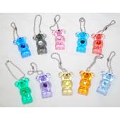 "Item# A1BISTB - 1.5"" Glitter Birthstone Teddy Bear Charms (100pcs @ $0.18/pc)"