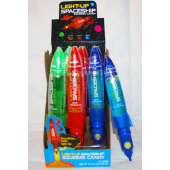 "CAND3 - 7"" Light-Up Spaceship Squeeze Candy (12pcs @ $1.35/pc)"