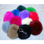 "CZFURKC - 4"" Super Plush Fur Ball Keychains (12pcs @ $1.00/pc)"