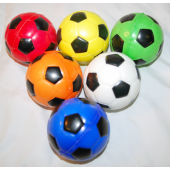 "CZSOCBALL2 - 3"" Soft Squeeze Colorful Soccer Balls (12pcs @ $0.75/pc)"