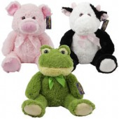 "Item# 26374 - 15"" Plush Farm Animals (6pcs @ $8.95/pc)"