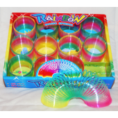 "CAND119 -  2.5"" Rainbow Spring Slinky Toy (12 pcs @ $0.60/pc)"