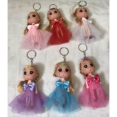 "CZDOLLKC3 - 5"" Princess Doll Keychains (12pcs @ $0.90/pc)"