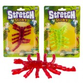 VX54436 ( $900 min group ) Large Stretchy Scorpions in Blister (48pcs @ $1.15/pc)