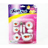 "TEASET - 8pc Asst. Porcelain Tea Sets on 10"" Blister (12pcs @ $1.25/set)"