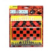 KK75284 - Large Carded Chess & Checkers Set (24pcs @ $2.39/pc)