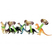 "Item# KK76725 - 10"" DINO W/ HANGTAG 6 ASST (48pcs @ $1.69/pc)"