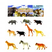 "Item# KK77578 - 10PCS WILD ANIMAL 4""  IN PVC BAG (48pks @ $2.95/pk)"