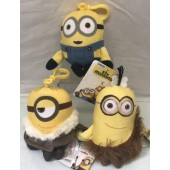 "DMKC - Large 6"" Asst. Plush Minion Clip Ons (12pcs @ $1.79/pc)"
