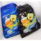 "SBSP - Sponge Bob 15"" x 11"" Canvas Sac Pac w/ Drawstring (6pcs @ $3.50/pc)"