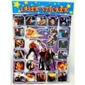 "STICKER38 - Fantastic Four 12""x8""  Laser Sticker Sheets (12pcs @ $0.75/pc)"