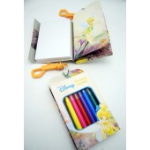 "TBNB - 5"" Tinker Bell Note Book w/ Clip-On & 8 Markers (12pcs @ $1.25/pc)"