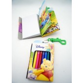 """WPNB - 5"""" Winnie The Pooh Note Book w/ Clip-On & 8 Markers (12pcs @ $1.25/pc)"""