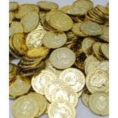 """COIN67 - 1.5"""" Gold Coins New (144pcs @ $0.03/pc)"""