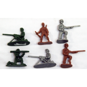 """ARMY12001 - 1.5"""" Asst. Colored Army Men (1200pcs @ $0.01/pc)....."""