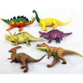 "DINO7 - 6""-7"" Asst. Colorful Dinosaurs (36pcs @ $0.59/pc))"