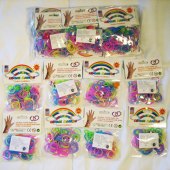 "LOOM7 - 4"" Pack of Colorful Loom Bands (12pcs @ $0.60/pc)"