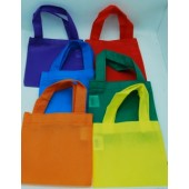 """PB44 - 6"""" x 6"""" Primary Colored Party Bags (12pcs @ $0.35/pc)"""