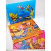 "PORTM2  -  Asst. Winnie the Pooh 12"" x 9.5"" Fold Over Folders w/ Snap String (12pcs @ $1.50/pc)"