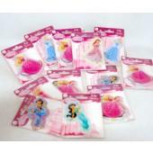 "PRPUFF - Disney Princess Asst. Puff Stickers on 4""x3"" Card (12pcs @ $0.65/pc)"