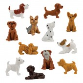 "Item# A1PUP13B - 1.5"" Detailed Dogs in Bulk (100pcs @ $0.15/pc)"