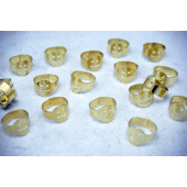 """SMILER - 1"""" Metal Smile Ring (144pcs @ $0.03/pc)"""