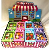 """CZICEER2 - 4pc Buildable Ice Cream/Fast Food Eraser Sets in 5"""" Box (12pcs @ $1.15/pc)"""