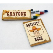 "ACTWES - 4"" Western Activity Book W/ Crayons (12pks @ $0.45/pk)"